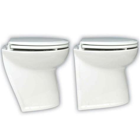 Jabsco Deluxe Toilet by Jabsco Deluxe Silent Flush Electric 12v Compact Height