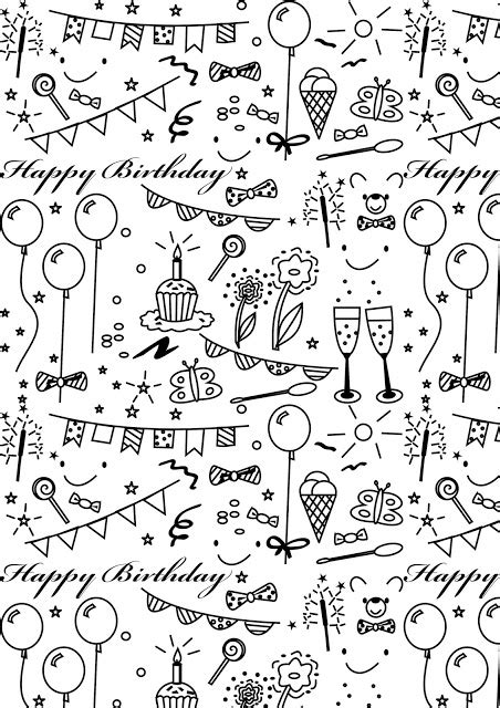 printable papers for card free printable birthday coloring paper ausdruckbares