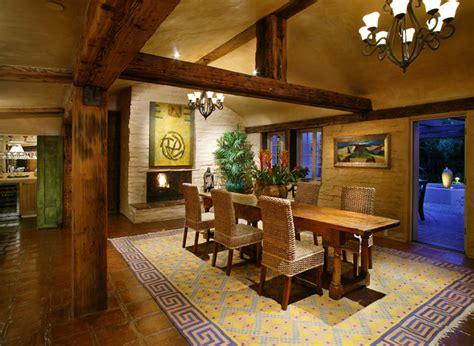 southwestern dining room adobe renovation addition southwestern dining