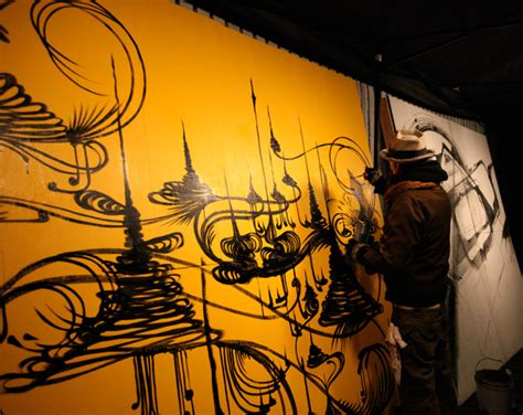 live painting shrine and kofie live painting notcot
