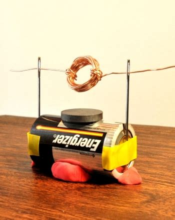 Simple Motor by How To Make A Simple Electric Motor Engineers Science