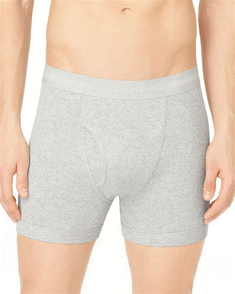 knit boxer briefs calvin klein knit boxer briefs 3 pack in gray for lyst
