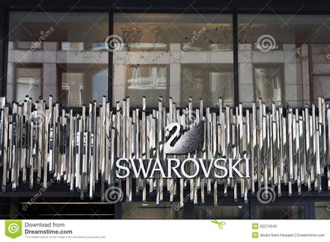 swarovski logo sign editorial stock image image 22274049