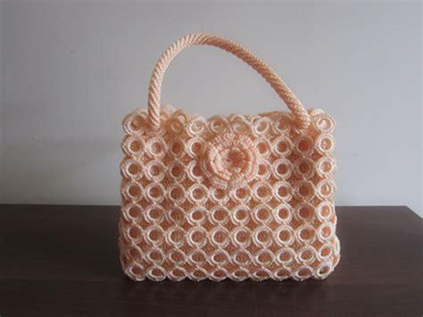 knitting handmade knitting handbag lace knitting handbag fashion knitting