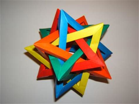 origami resources 5 intersecting tetrahedra