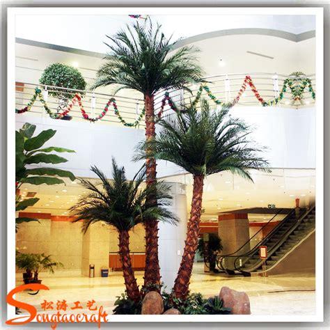 decorative metal trees plastic artificial palm tree metal ornament plastic
