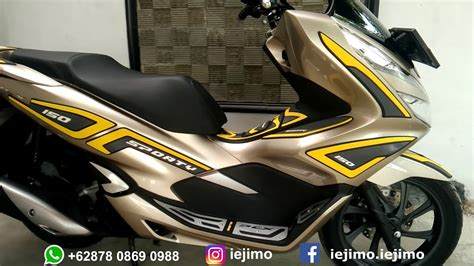 Pcx 2018 Gold Modifikasi by Modifikasi Honda Pcx 150 Tahun 2018 Motor Gold