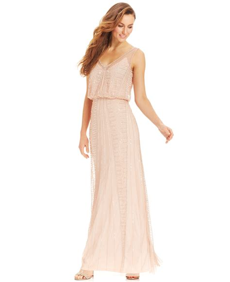 beaded chiffon blouson dress 2015 grammys and american awards inspired