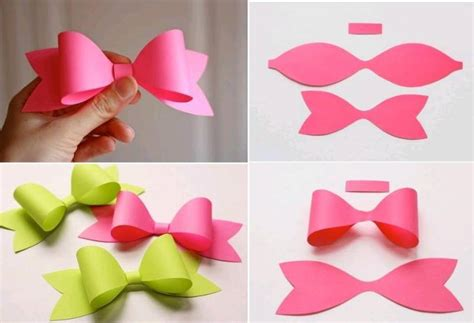 make paper crafts how to make paper craft bow tie step by step diy tutorial