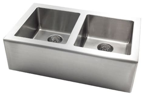 contemporary stainless steel kitchen sinks pegasus ap2033 apron front large bowl kitchen sink