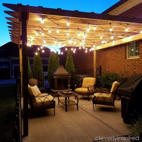 outdoor pergola ideas outdoor pergola and lights cleverly inspired