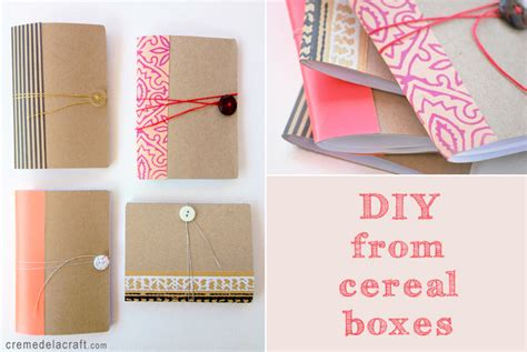 diy craft projects diy mini notebook from a cereal box