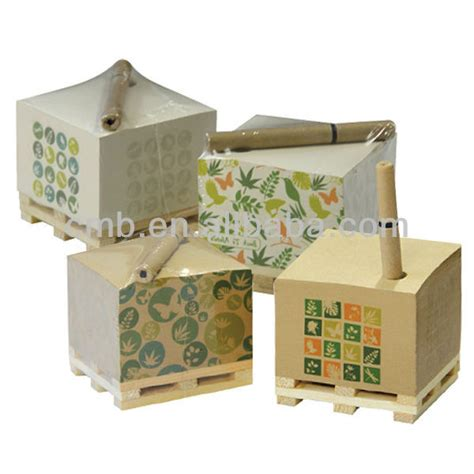 craft paper dispenser eco craft paper memo cube with pen holder view memo cube