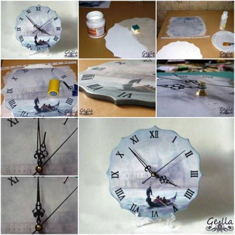 how to make decoupage how to make clock decoupage step by step diy tutorial