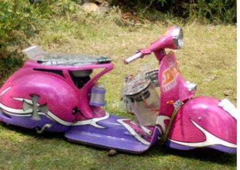 Modifikasi Vespa Warna Pink by Cara Membuat Vespa Ceper Info Scooter