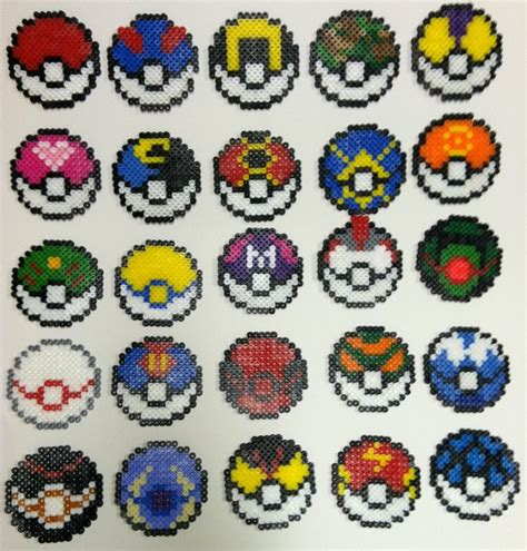 pokeball perler bead pattern perler bead pokeballs by thewiredslain on deviantart