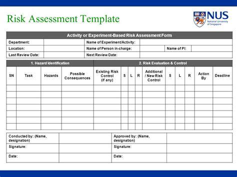 risk assessment hospital risk assessment template eliolera