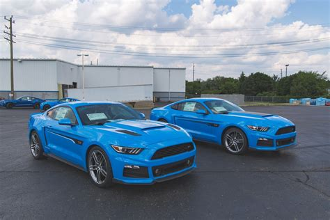 Ford Mustang Roush by Roush Shows Pair Of Grabber Blue Mustangs Carscoops