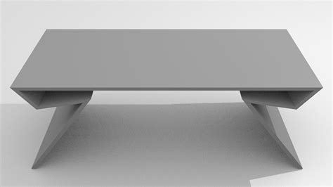 modern table desk modern table free 3d model obj blend dae cgtrader
