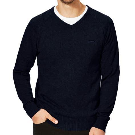 mens knit pullover slazenger seve mens plain v neck golf pullover jumper knit