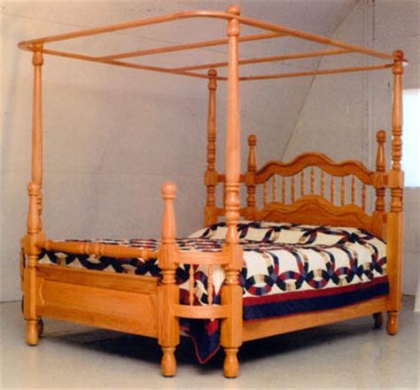 wrap around bed frame amish made solid oak wrap around bed with canopy by