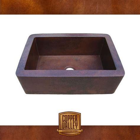 kitchen sink finishes copper valley farmhouse sink 16 smooth finish copper