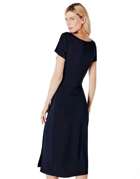 pleated knit dress blue pleated knit dress dresses roberto verino