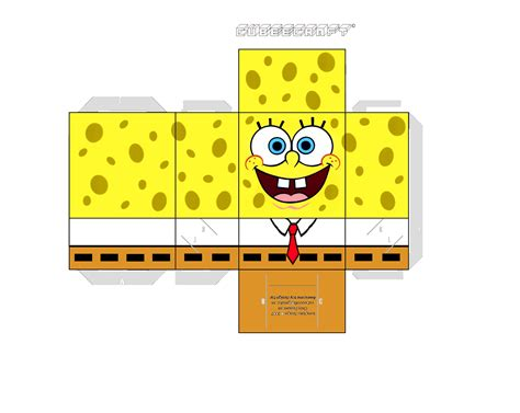 free paper crafts printables 6 best images of spongebob printable cube net cube net