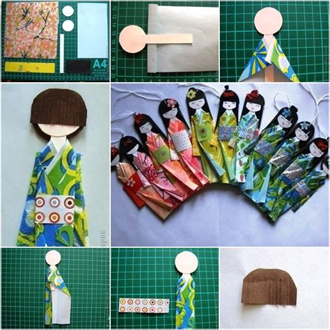 japanese paper craft ideas how to make traditional japanese paper doll fab diy