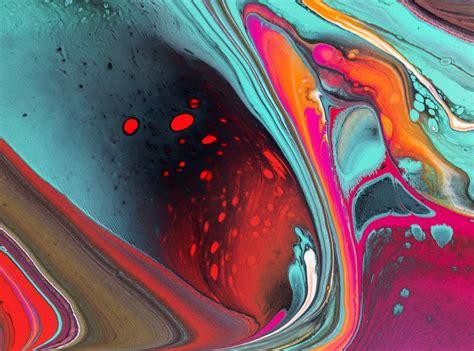 acrylic paint pour dickie bird poured fluid acrylic artwork by