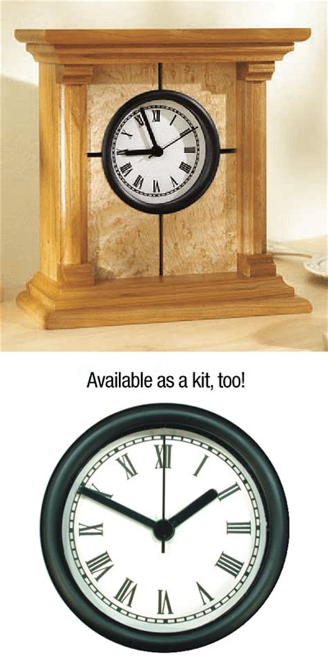 clock plans woodworking architectural clock plan woodworking plan from wood magazine