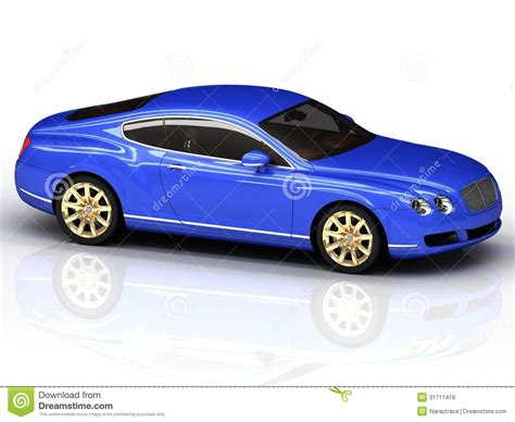 Blue Car Gold Wheels by Premium Blue Car With Gold Wheels Stock Illustration