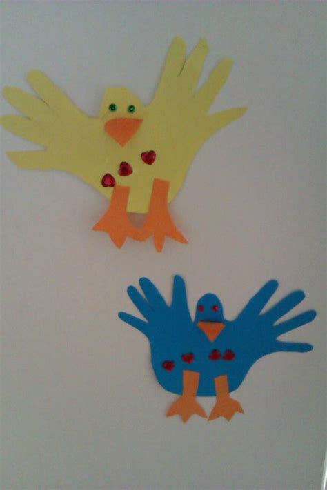 bird crafts for bird craft for toddlers made by tracing together