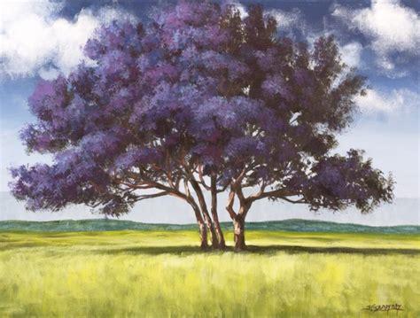 acrylic painting a tree jacaranda tree acrylic painting lesson tim gagnon studio