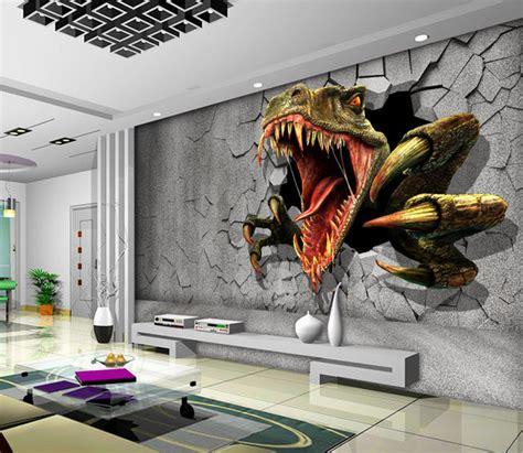 dinosaurs murals walls aliexpress buy 3d dinosaur wallpaper personalized
