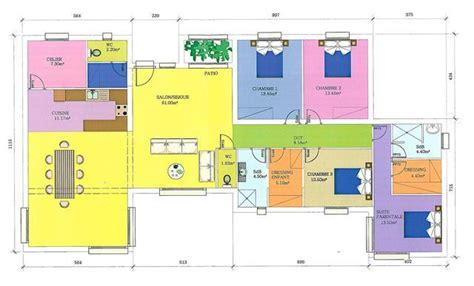 plan de maison plein pied en l gratuit