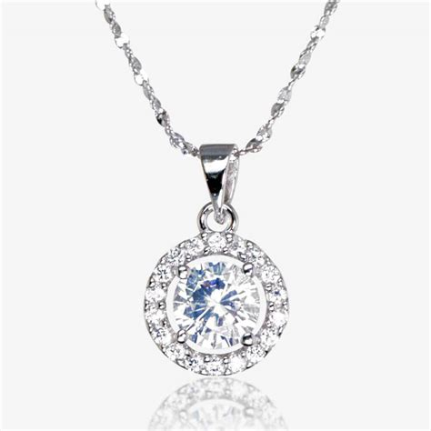 how to make sterling silver jewelry the amelia sterling silver diamonflash cubic zirconia necklace