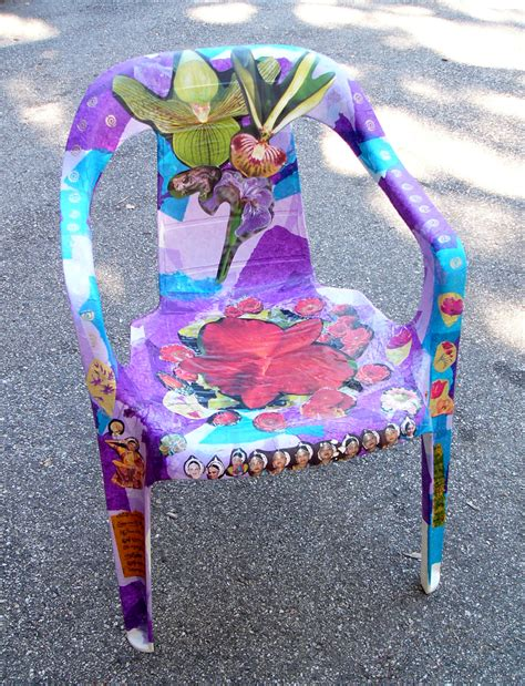 decoupage for outdoors the maker project repainting a kitchen chair