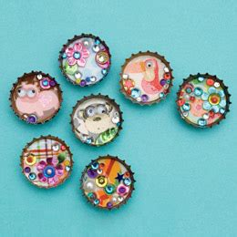 magnets for craft projects crafting with recyclable bottle cap magnets craft