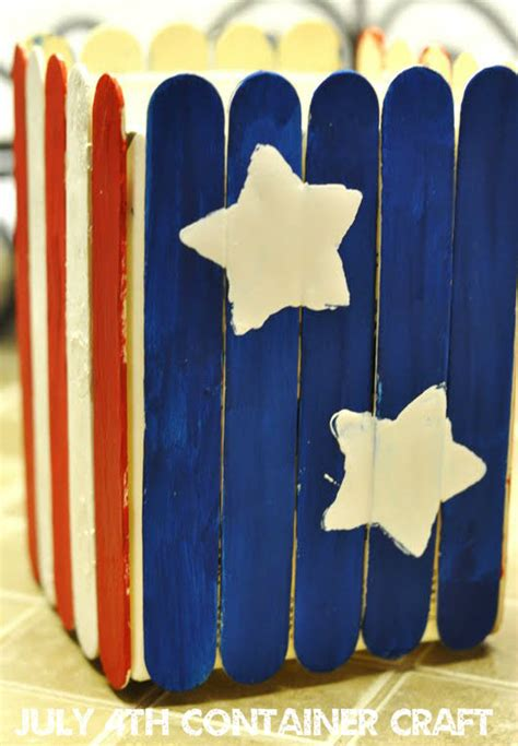 4th of july crafts white and blue container craft it s whatever you