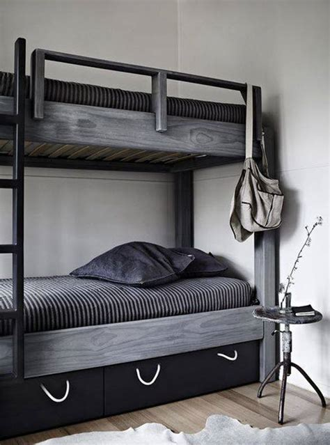 grey bunk beds shades of gray home decor