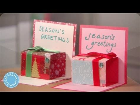 who makes gift cards how to make a pop up gift card holder martha stewart