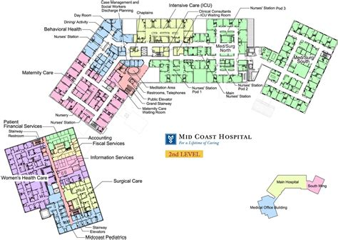floor plan of a hospital mid coast hospital find us floor plans level 2
