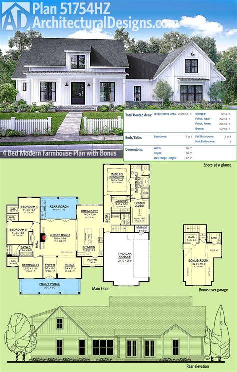 modern farmhouse floor plans plan 51754hz modern farmhouse plan with bonus room farmhouse plans bonus rooms and modern