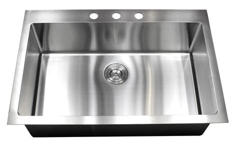 best stainless steel kitchen sinks reviews 33 inch top mount drop in stainless steel single bowl