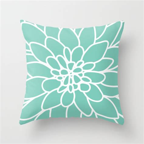 dahlia pillow cover mint green by aldari home contemporary decorative pillows by etsy