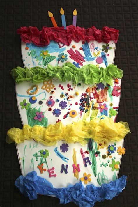 cake craft for preschooler birthday activity happy hooligans