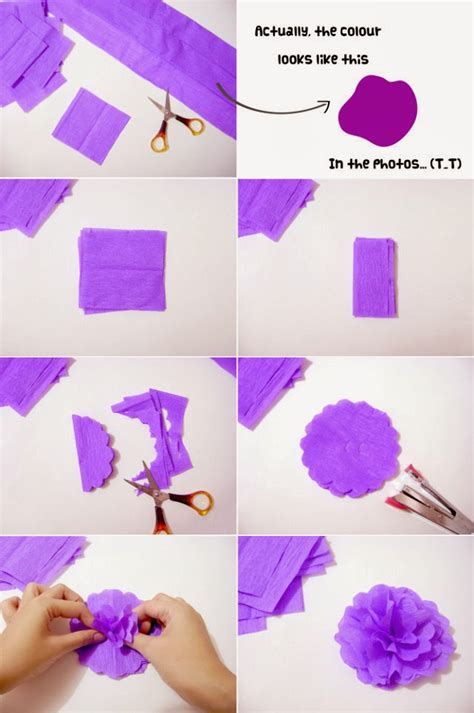 crepe paper crafts 20 diy crepe paper flowers with tutorials guide patterns
