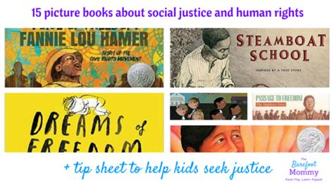 social justice picture books the barefoot read play learn repeat