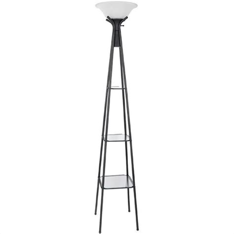 Ashley Dining Room Sets coaster black floor lamp with glass shelves 901420